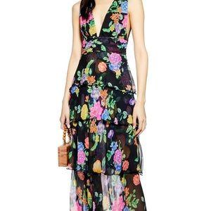 Topshop midi floral dress size 8